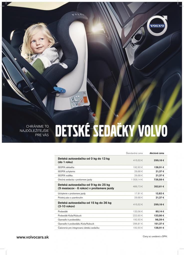 Akcia na detské sedačky Volvo